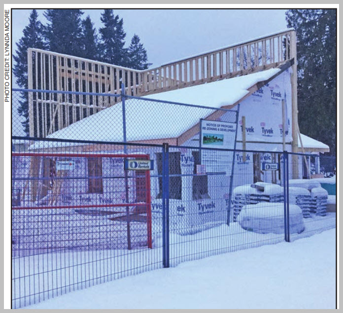 The Slocan Suites under construction